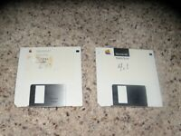 """2 Macintosh System Tools Disks (4.1 and 6.03) on 3.5"""" disks"""