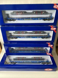 Heljan 17005108 Cargowaggon Flat Wagons Rake Of 4 New Sealed