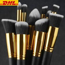 10Pcs/Set Pro Make-up Pinsel Kosmetik Augenschminke Gesichts Puder Lippenpinsel