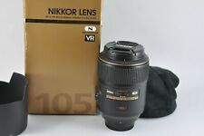 Nikon 105mm f/2.8 G AF-S VR Micro Macro Lens FULL FRAME FX boxed Mint condition