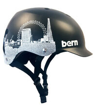 Bern Watts EPS Bike Cycle Skate Helmet Black London Skyline  L-XL or XXL-XXXL