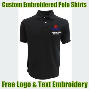 NEW Custom Embroidered Polo Shirt With Logo Garage & Technicians Names Work Wear