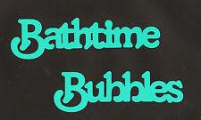 ScrapbookingWords-Bathtime Bubbles- Aqua