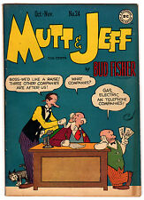MUTT & JEFF #24 5.0 CREAM TO OFF-WHITE PAGES GOLDEN AGE