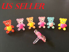 6pcs Mix ColorTedd Bear Dust Plug For iphone & 3.5mm Earphone cap Cell Phone #13