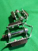 "N,O,S VINTAGE RALEIGH 501 QUILL PEDALS 9/16"" Racer moulton steel mint complete"