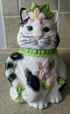 Fitz and Floyd Rare Miss Kitty Cookie Jar w/ Box Fine Condition - Collectible
