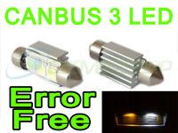 Canbus LED Ampoule Plaque Immatriculation Remplacement pour Bmw E46 E39 E60