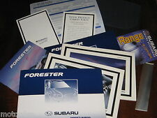 2002 SUBARU FORESTER glove box wallet, OWNER MANUAL, GUIDES, BUMPER STICKER ETC