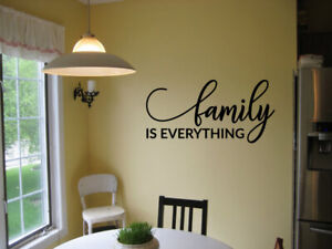FAMILY IS EVERYTHING VINYL WALL DECAL QUOTE WORDS STICKER DECALS LETTERING