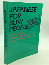 JAPANESE FOR BUSY PEOPLE by Association for Japanese-Language Teaching- 1988