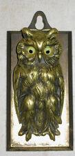 ANTIQUE BRADLEY HUBBARD CAST IRON BRASS GLASS OWL PAPER DESK CLIP ART HOLDER
