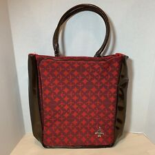 "Transversion Loop NYC Jetsetter Red Travel Airline Tote Bag Purse 11""Wx14""Hx4""D"