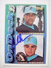 MARC VALDES signed RC MARLINS 1995 Topps baseball card AUTO FLORIDA GATORS EXPOS