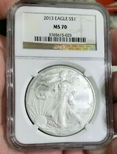 2013 1 oz American Silver Eagle NGC MS70 ASE