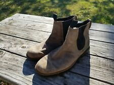 Timberland Brown Tan Suede Torrance Chelsea Mens Boots 77034 Size 12M Pre-owned