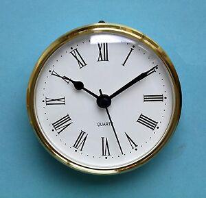 MEGA-QUARTZ 85mm BEZEL Quartz Clock  insert movement  White Roman dial