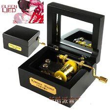 Black Square Wood Hand Crank Music Box : Elfen Lied - Lilium