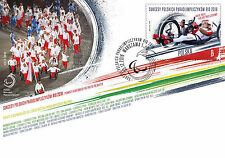 FDC with stamp Fi 4739 Successes of Polish para-olympian Rio 2016 cycling