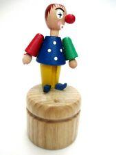 PUSH PUPPET - WAKOUWA - GERMANY CLOWN - all wooden - NOVELTY TOY