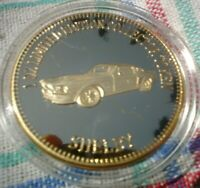 1 OZ LIM ED 999 GOLD PLATED MUSCLE CAR COLLECTORS TOKEN 4.5 CM SHELBY