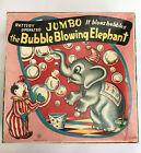 1950s Yone Yonezawa Japanese Tin Tinplate Jumbo Bubble Blowing Elephant Japan