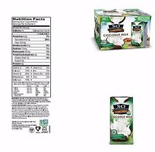 6 So Delicious Unsweetend Organic Coconut Milk Beverages Non-GMO Organic (32oz)