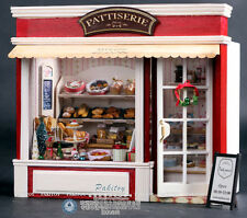 NEW DIY Wooden Dollhouse bakery PATTISERIE FOR AGE 6+