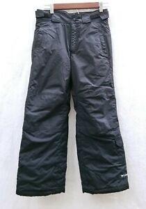 Columbia Boys 10/12 OmniShield Water Resistant Snow Pants Black Adjustable