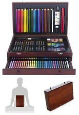 Painting Wood Art Set Drawing Mediums Kit Wooden Case Removable Drawer 142 Piece