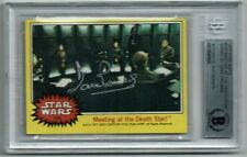 DAVE PROWSE DARTH VADER 1977 TOPPS STAR WARS CARD SIGNED AUTOGRAPHED BAS BECKETT