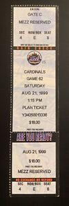 1999 Adam Kennedy MLB Debut first game full ticket stub 8/21/99 Angels Piazza HR