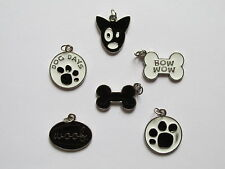 36 DOG Themed CHARMS paws WOOF dogs bones BOW WOW dog days animal charms FREE SH