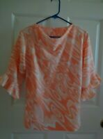 Beautiful Women's Blouse Tangerine Color Size M
