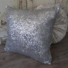 Exquisite Sparkly Silver Sequins Cushion Cover Home Decor Pillow Case 40cm