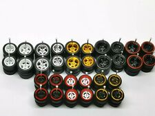 (BY USPS within US)  Hot Wheels Rubber Tires 16 sets 4/5 Spoke 12mm +10 mm