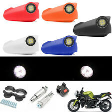 Pair 7/8'' Motorcycle Led DRL Light Handguard Hand Guard Brush Bar Protector 12V