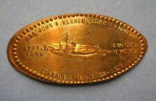 Uss John F Kennedy elongated penny Newport News Va Usa cent 1968 souvenir coin