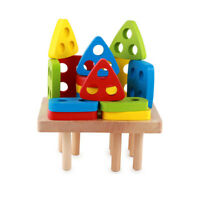 Shape Puzzle 3D Wooden Jigsaw Games Shape Matching Puzzle Kids Educational Toys