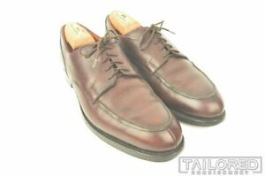 PEAL & CO x BROOKS BROTHERS C&J Burgundy Leather Blucher Dress Shoes - 8.5 D