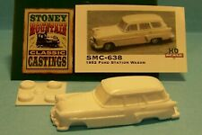 SMC-638 1952 Ford Wagon  HO-1/87th Scale  White Resin Kit  (unfinished)