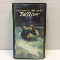 The River • VHS • Mel Gibson Sissy Spacek VINTAGE‼ 1985