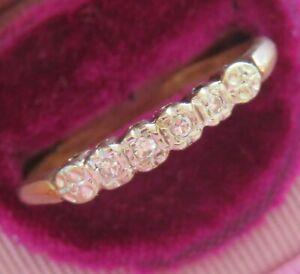 14K KEEPSAKE ANTIQUE VINTAGE VS DIAMOND ETERNITY WEDDING ANNIVERSARY RING BAND