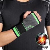 Copper Elastic Wrist Support Hand Palm Brace Compression Glove Arthritis Pain OB