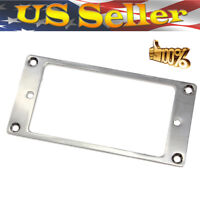 Pickup Mounting Rings 2x Metal Pickup Humbucker Frame Chrome For Electric Guitar