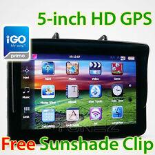 "NEW 5"" HD GPS Car Portable Navigation Tunezup Navi System Sat Nav iGO Primo"