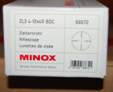 Zielfernrohr MINOX ZL3  4-12x40 Absehen BDC Art.Nr.66672 Gelegenheit Demo