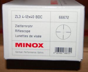 Zielfernrohr MINOX ZL3  4-12x40 Absehen BDC Art.Nr.66672 Neu Sonderpreis