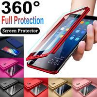 360 Full Hard Case + Screen Cover For Samsung S10 S8 S9 Plus Note 8 9 S7 Edge