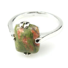 Unqiue Fashion New Natural Gemstone 925 Silver Plated Men Women Ring Size 8